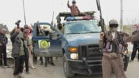 Militant fighters in Iraq