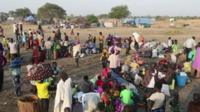 Thousands of South Sudanese continue to flee the city of Bor