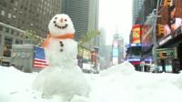 Snowman in New York