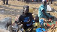 Refugees in Bentiu - file image