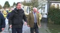 David Cameron in floods