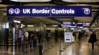 UK Border Controls sign
