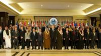 Delegates at the donor conference in Kuwait