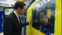 George Osborne at a manufacturing centre in Coventry