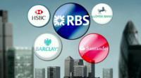 Graphic of bank logos