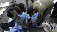 Police examining blast site