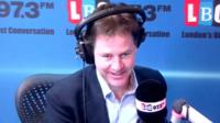 Nick Clegg during telephone phone-in