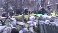Ukranian protestors
