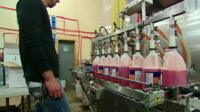 man in cleaning products factory