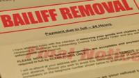 Bailiff removal notice