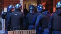 Police raid on gang
