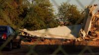 Debris of Flight 1103 near Tripoli