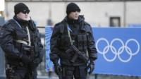 Russian security forces in Sochi on Wednesday