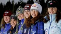 The US women's ski jumping team