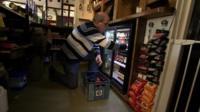 John Gill stocking fridge