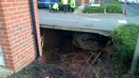 The sinkhole under a road
