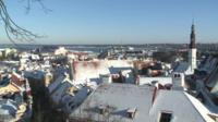 Snowy skyline in Tallinn