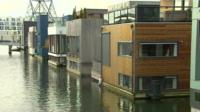 Floating homes just outside Amsterdam