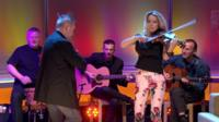 Nigel Kennedy and Eh-Oss from The Bond Quartet on the Andrew Marr Show