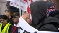 EDL protestors