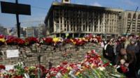 Kiev memorial to fallen protesters