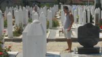 Kenan Trebincevic in cemetery
