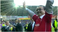 Vincent Tan at Cardiff soccer stadium