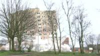 Falcon Court tower block demolition
