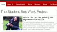 The Student Sex Work Project website