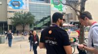 People at the South by Southwest festival in Texas
