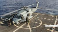 US Navy rescue helicopter