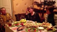 Ivan, his daughter Sveta, and his niece Irina, in their house in Crimea