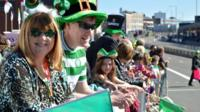 Crowds in Digbeth for St Patrick's Day 2014