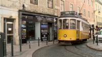 A tram in Portugal