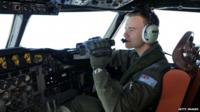 Pilot searches from a Royal Australian Airforce plane