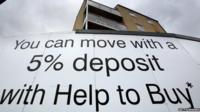 Help to buy sign outside a block of flats