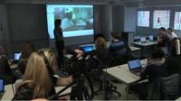 Camera Crew filming classroom