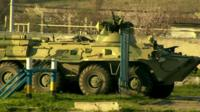 Russian special forces roll into Belbek airbase near Sevastopol