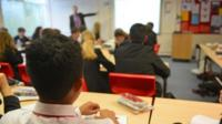 School pupils in a class