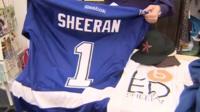 Clothes belonging to Ed Sheeran