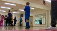 Children at a special activity class
