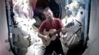 Commander Chris Hadfield on board the ISS