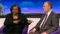 Diane Abbott and Simon Clark