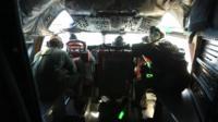 Inside the cockpit of an Australian Air Force plane