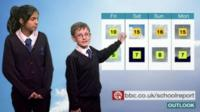 BBC News School Report took over the Nations and Regions weather bulletins