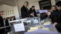Ballots cast in Turkey