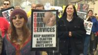 Harwich maternity units protest