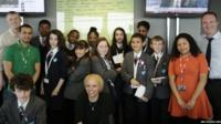 Group photo of students from Hackney New School