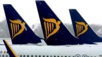 Ryanair planes at an airport
