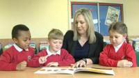 Pupils and teacher